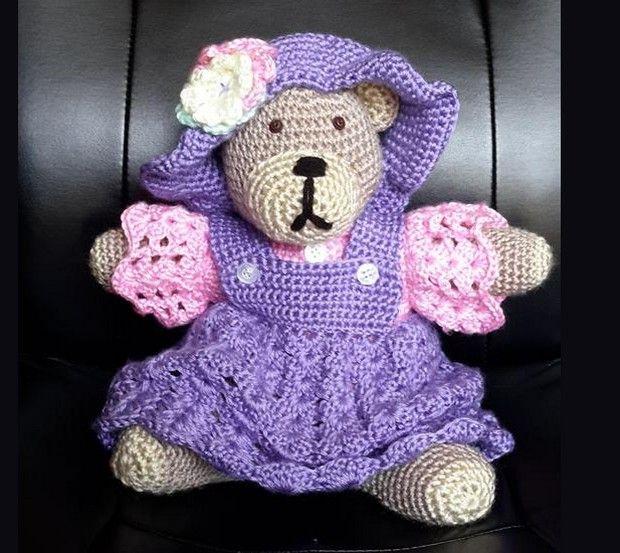 Crochet Teddy Bear Pattern | Muñeca amigurumi, Osos y Patrones amigurumi