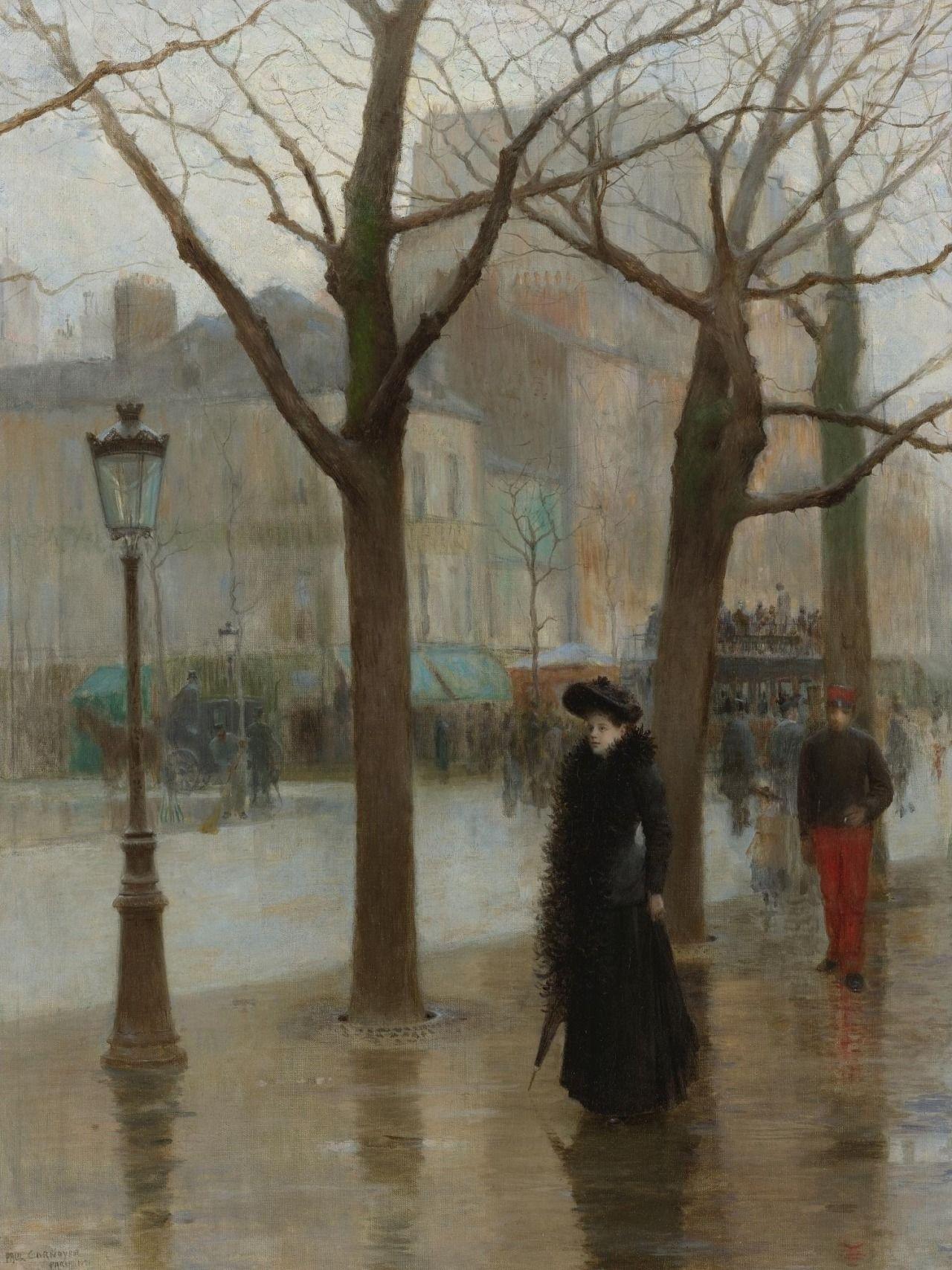 Paris Street in Winter, Paul Cornoyer