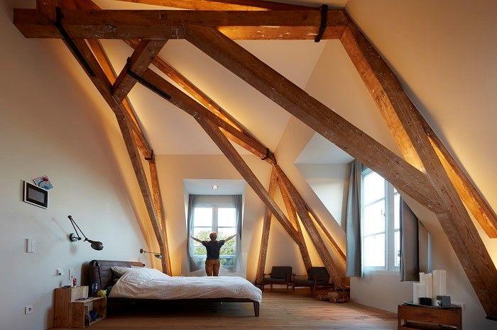 Schlafzimmer Dachschr臠e Beleuchtung