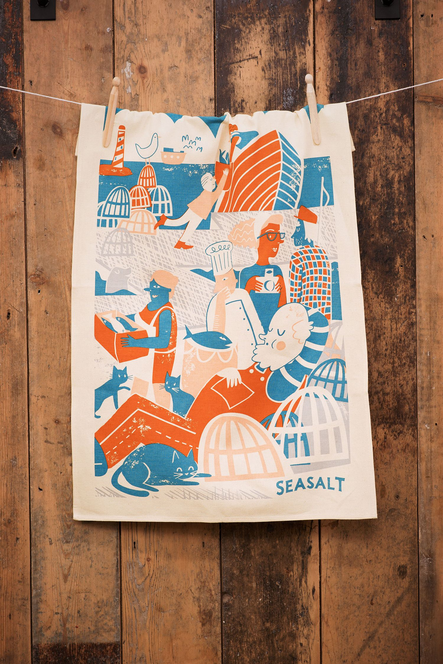 beautiful tea towels to add a touch of seasalt to your kitchen made rh pinterest com
