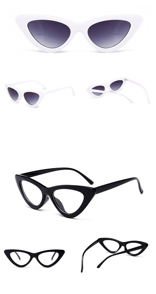 c67868bfae558 Peekaboo cute sexy retro cat eye sunglasses women small black white 2018  triangle vintage cheap sun glasses red female uv400  fashion  style   shopping  love ...