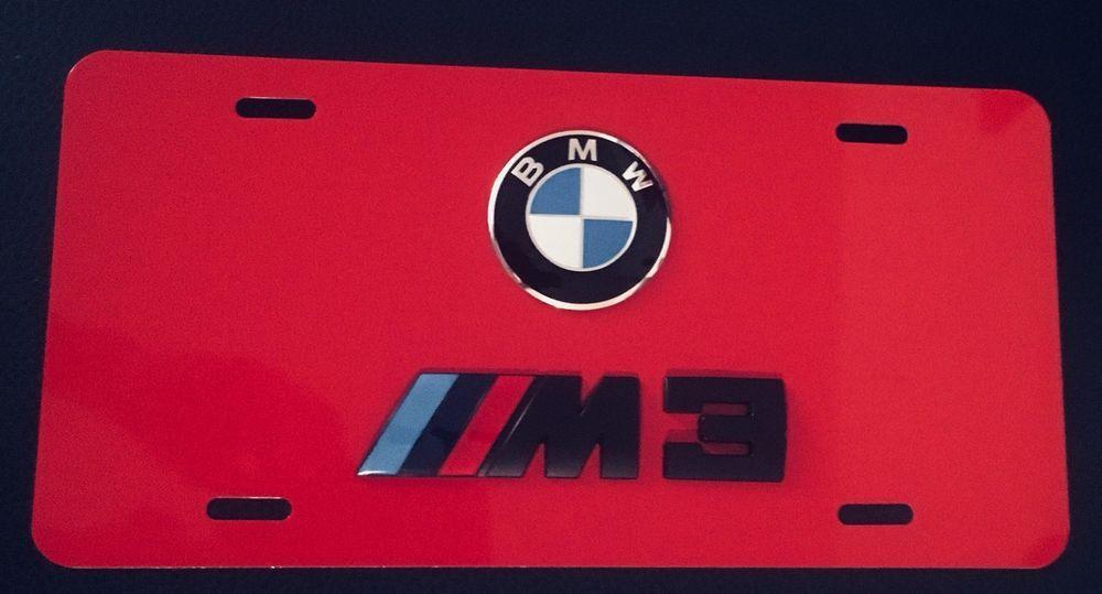 3d Custom Bmw M3 License Plate Bmw On Red License Plate Bmw