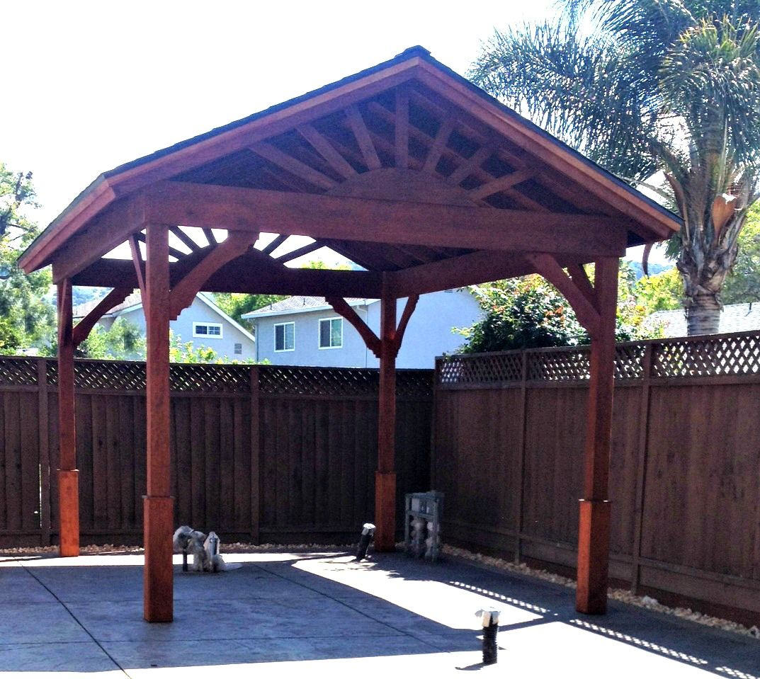 Gazebo With Gable Roof Built In 3 Days How To Build A