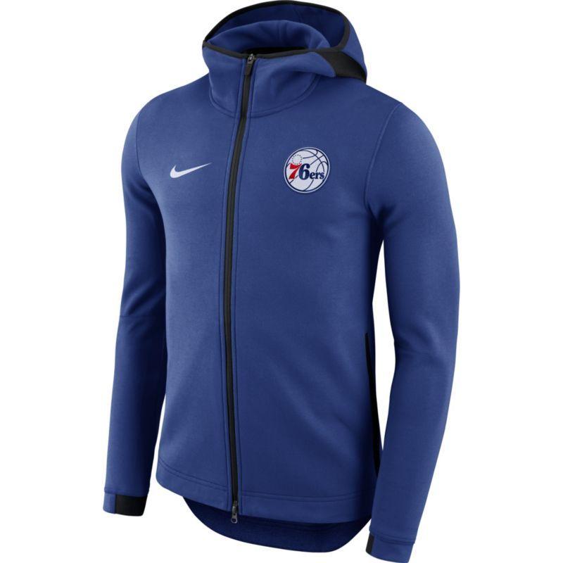 Nike Men's Philadelphia 76ers On-Court Royal Dri-FIT Showtime Full-Zip  Hoodie, Size: Medium, Team