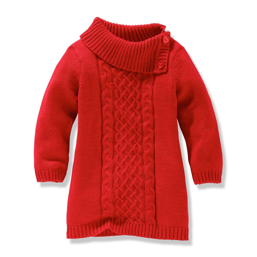 Toddler Girl Red Sweater Dress For Emilee Amp Aubrey