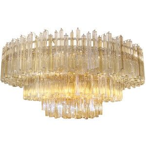 Craig van den brulle venini large venini three tiered amber craig van den brulle venini large venini three tiered amber clear glass chandelier aloadofball Choice Image