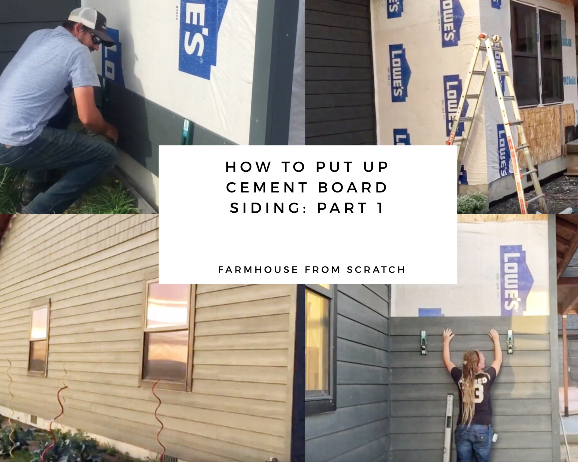 How To Put Up Cement Board Siding Part 1 Owner Builder Tips Cement Board Siding Siding Build Your Own House