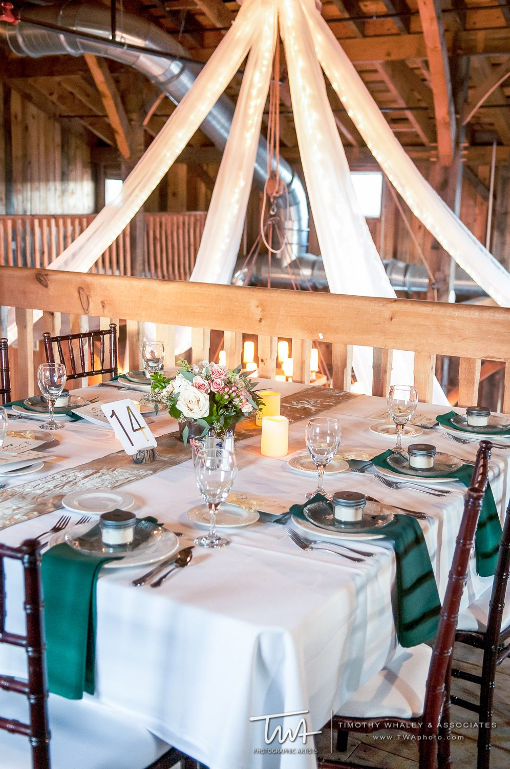 Barn Wedding Table Setup At County Line Orchard Hobart In Our