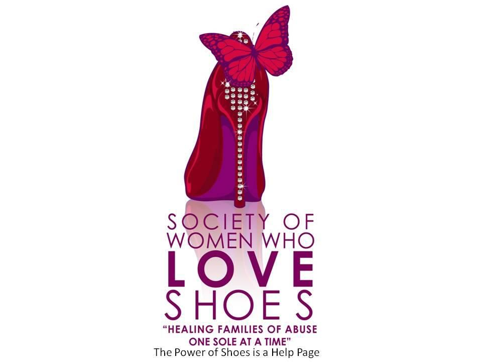 used women's shoes in helping support awareness against domestic