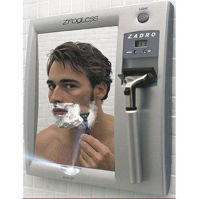 Zadro Products Z Fogless Lighted Shaving Mirror Z200 By