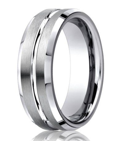 Designer 950 platinum mens wedding ring with center cut 6mm junglespirit Gallery