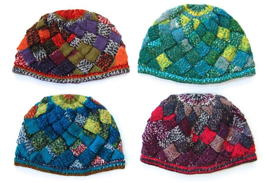 Entrelac Cap free pattern | Knitty | Pinterest | Tejido