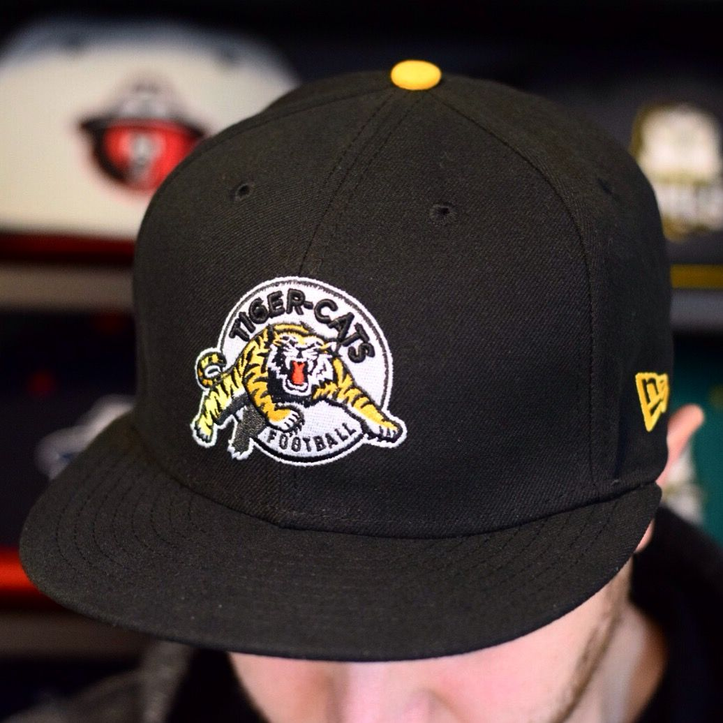 cheaper many fashionable thoughts on Hamilton Tiger-Cats - 59FIFTY Cap - Black/Yellow Contrast   Fitted ...