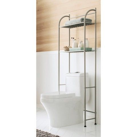 Threshold Etagere Metal Furn Bn Space Savers Over Toilet Bathroom Furniture