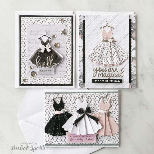 SPELLBINDERS APRIL 2019 CARD KIT OF THE MONTH (10 CARDS) (Nichol Spohr LLC) #cardkit
