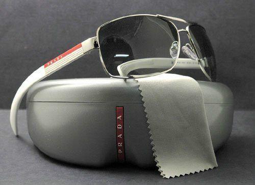768434378f5 NEW Genuine PRADA SPORT Sunglasses White Black PS 54IS MEN WOMEN SPS 54I 1BC  3M1