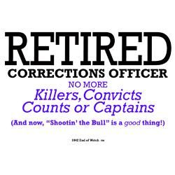 Retired Correctional Officer Baseball Baseball Cap  Retirement