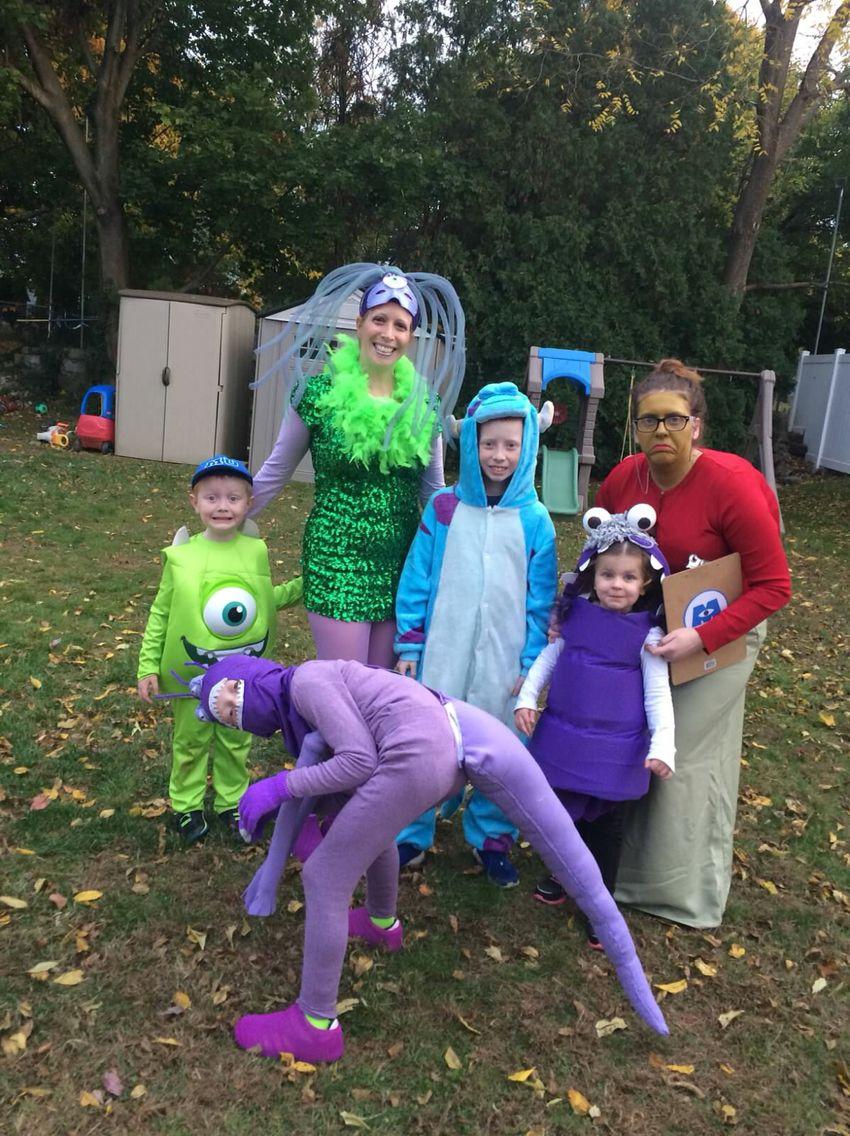 Monsters Inc Group Monsters Inc Halloween Costumes Halloween Costume Monster Monsters Inc Costume Diy