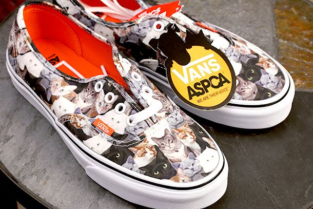 7097ffc62e9780 The Vans x ASPCA Authentic Kitty Cat Skate Shoes