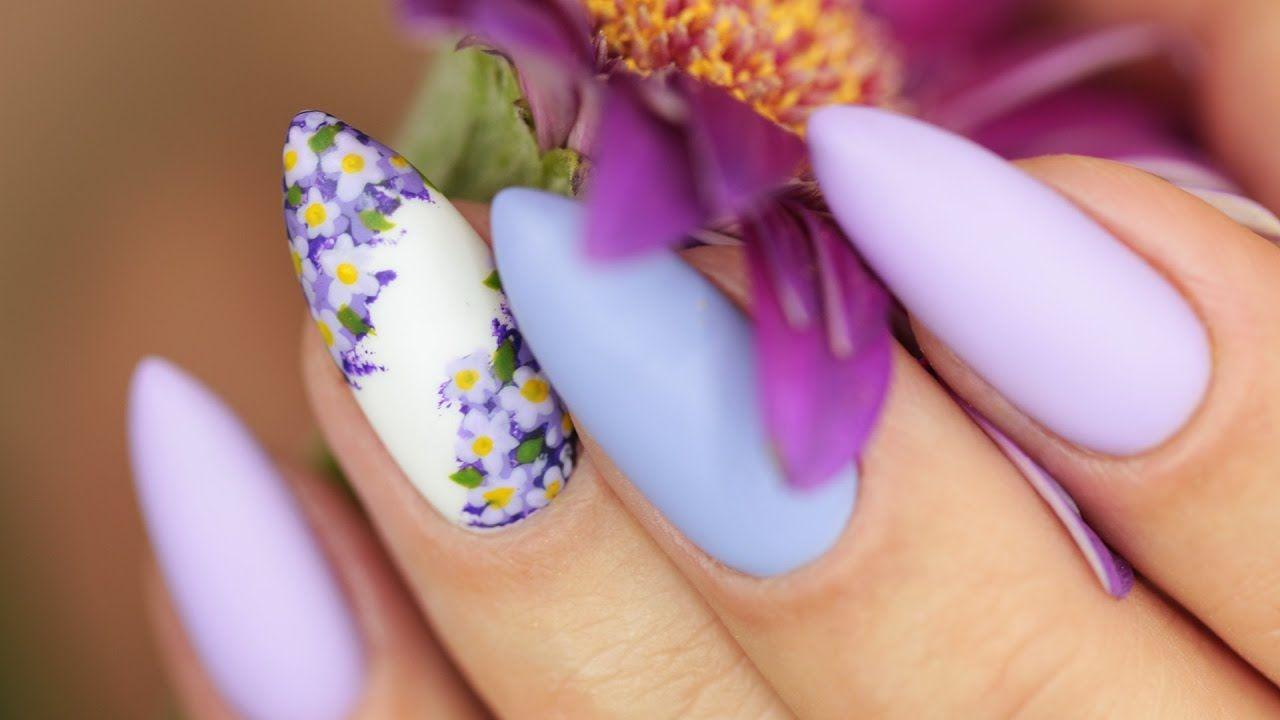 Wiosenne Paznokcie Kwiaty Bzu Semilac Cute Nails Manicure And Pedicure Flower Nails