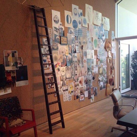 wand van kurk als prikbord kurk pinterest prikbord kurk muur en muur. Black Bedroom Furniture Sets. Home Design Ideas