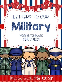 writing templates for letters to the military 1st grade ela