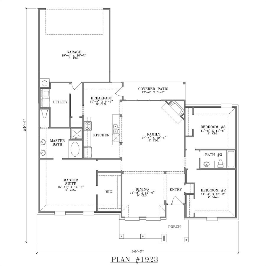 wonderful Small House Plans With Big Kitchens #9: 1000+ images about Floor Plans on Pinterest | Small houses, First story and Bath