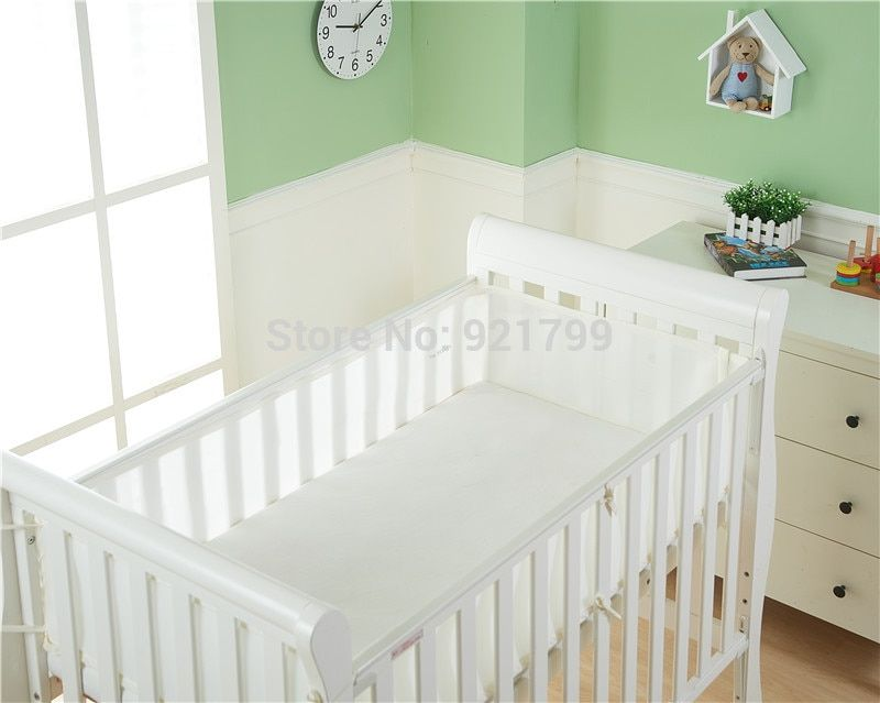 Baby Cot Bumper Breathable Mesh Crib Liner Infant Bed Nursery Bedding Protector