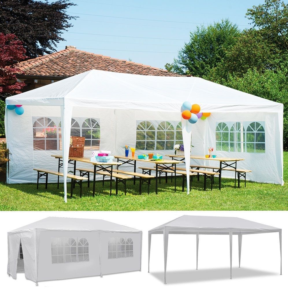 10 X 20 Outdoor Canopy Party Wedding Tent With 6 Walls Gazebo Garden Bbq Tent Patio Tents Canopy Outdoor Canopy Tent
