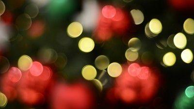 Bokeh, Lights, 4K | ننن | Bokeh wallpaper, Christmas tree
