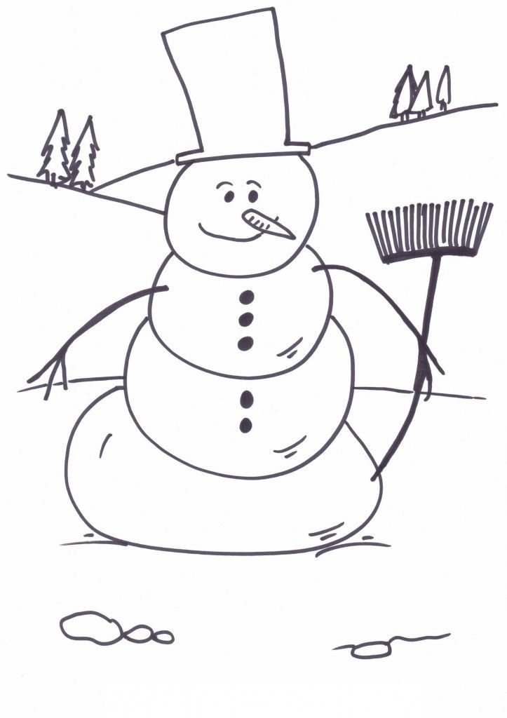 Blank Snowman Coloring Pages Download Or Print The Image Below
