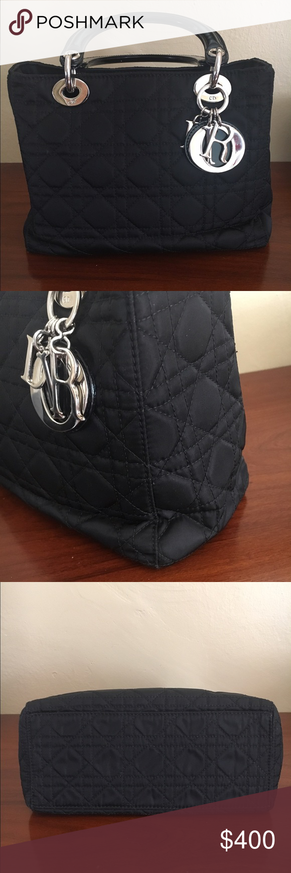 Soft Lady Dior Authentic. Approximately 7x9.5x4. Comes with strap, authentication card, dust bag and care instruction book. Christian Dior Bags