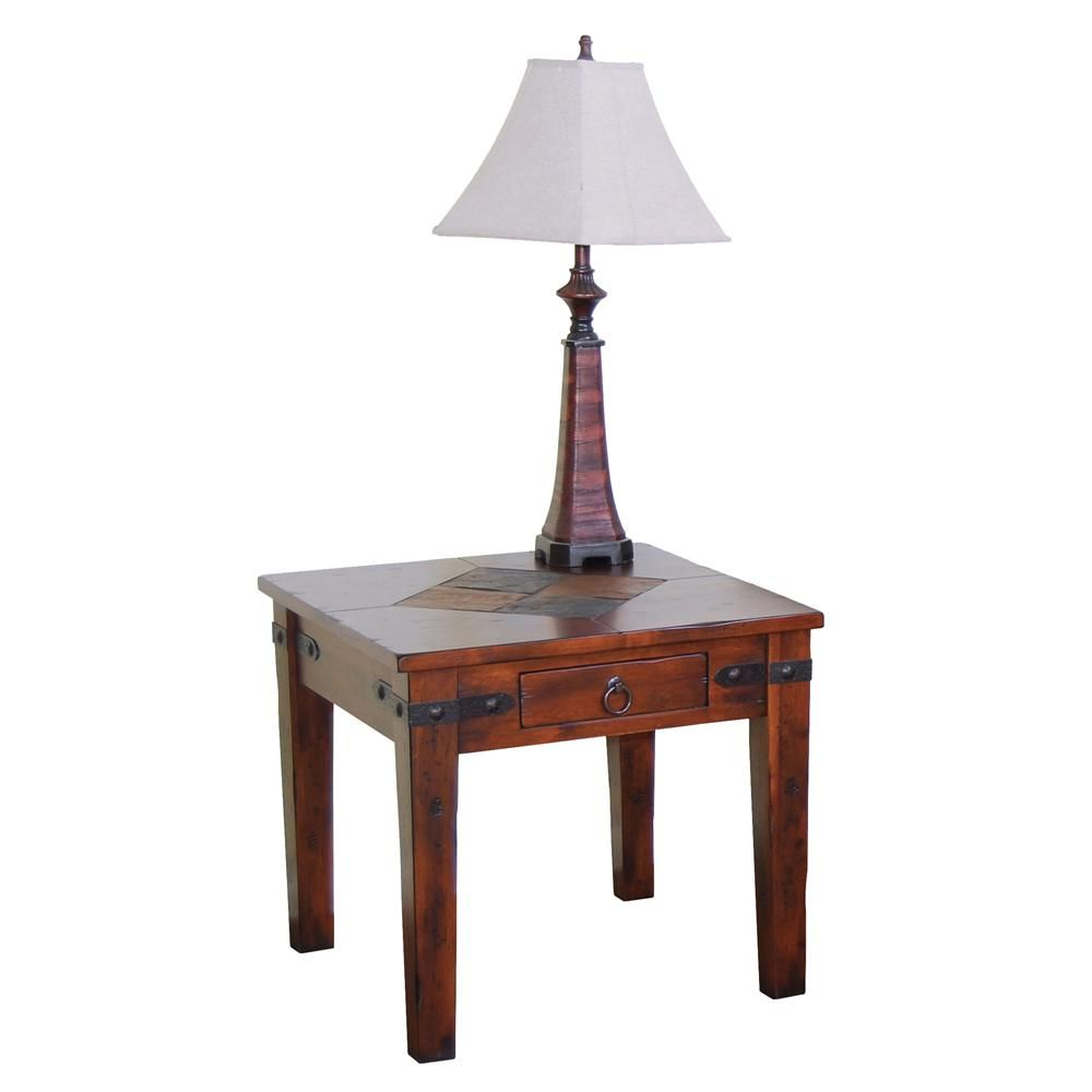 Santa Fe Traditional 1 Drawer End Table By Sunny Designs   Wayside Furniture    End Table