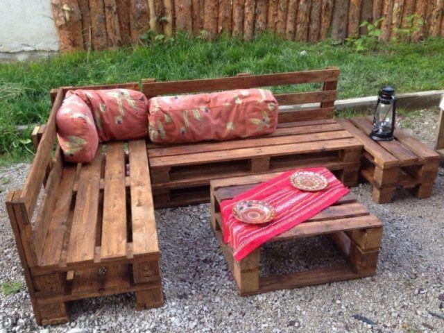 diy muebles para exterior con palets sof chillout y mesa de caf
