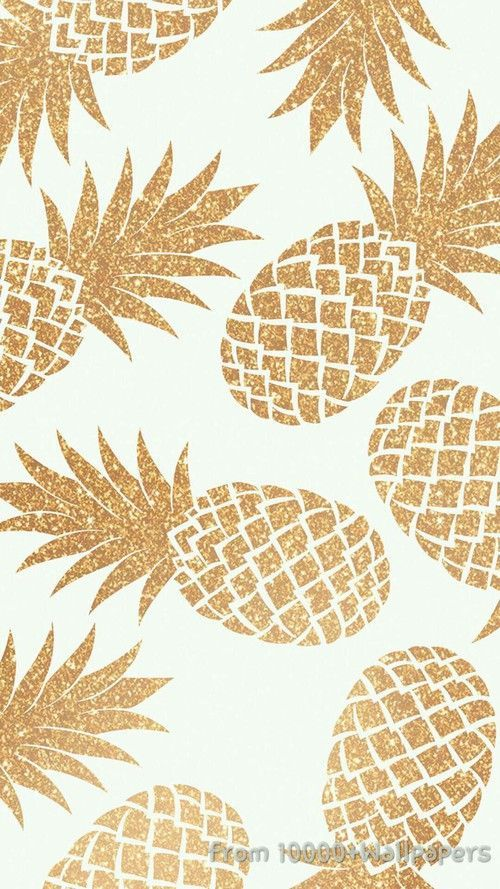 Pluie D Ananas Dores Pineapple Wallpaper August Wallpaper Pattern Wallpaper