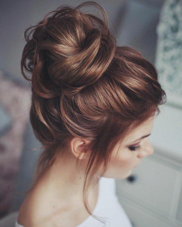 1001 + Ideen für Messy Dutt Frisur zum Nachmachen | Hair ...