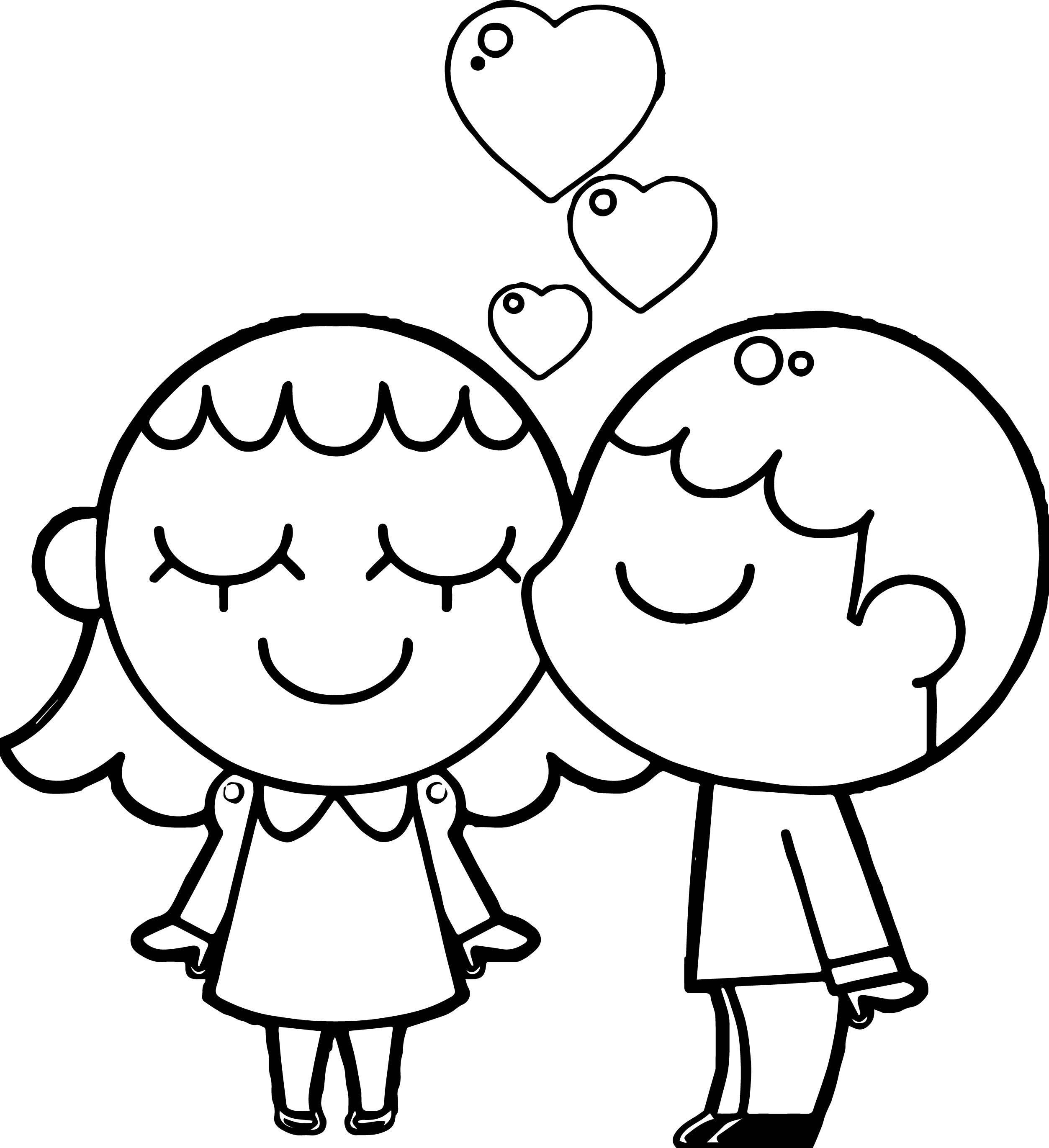 Cool Best Friends Boy And Girl Coloring Page Coloring Pages For