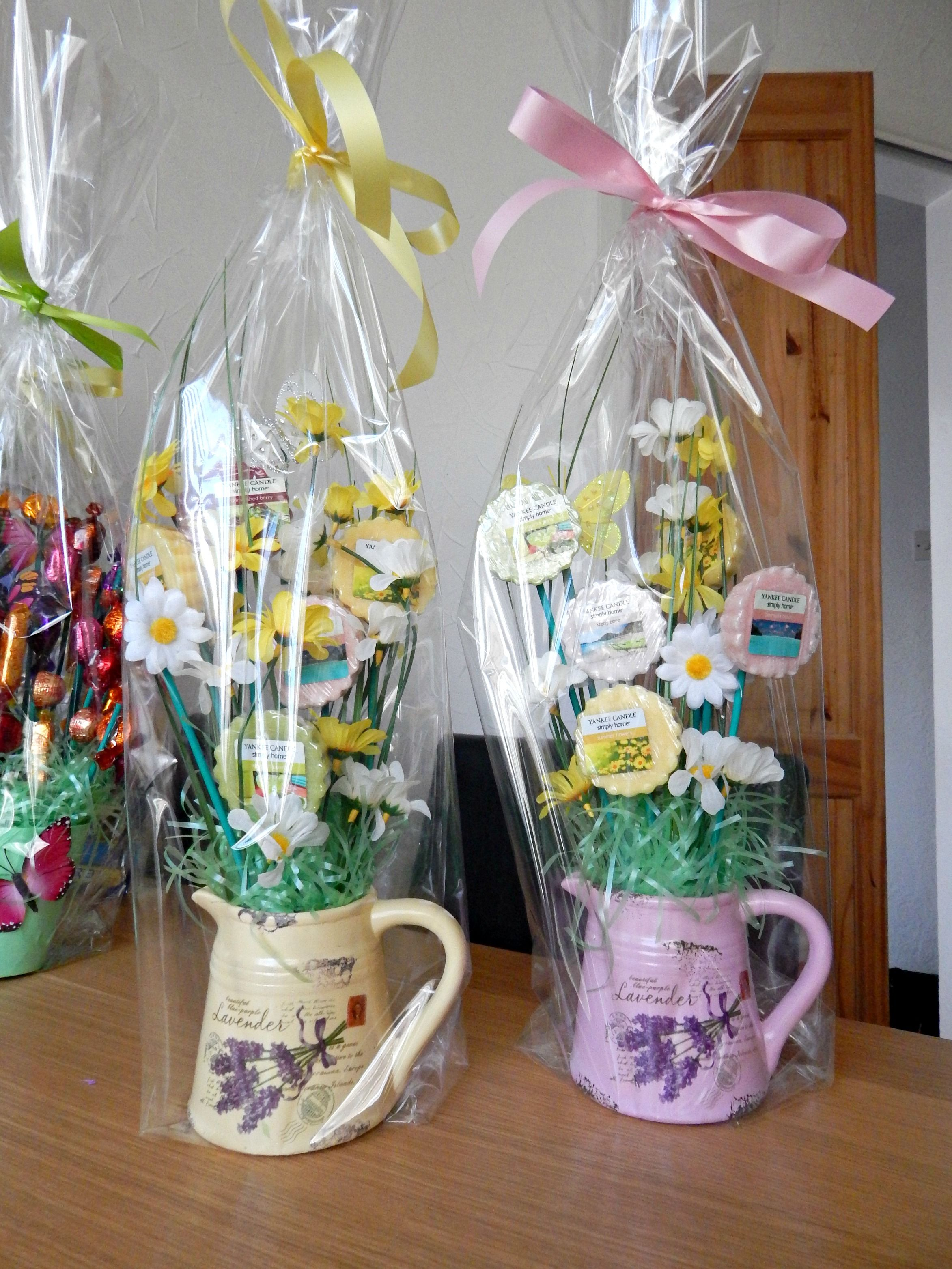 I Made These Spring Hampers With Yankee Candle Melts Gift Bouquet Candy Craft