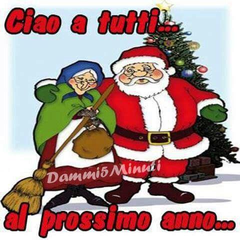 Babbo Natale E Befana.Ciao Ciao Babbo Natale Immagini Di Natale E Natale