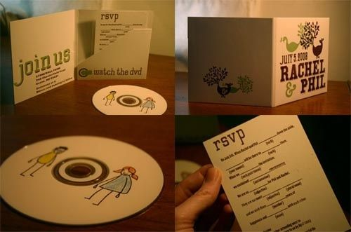 Diy Dvd Wedding Invitation Made By Rachel Wedding Wedding