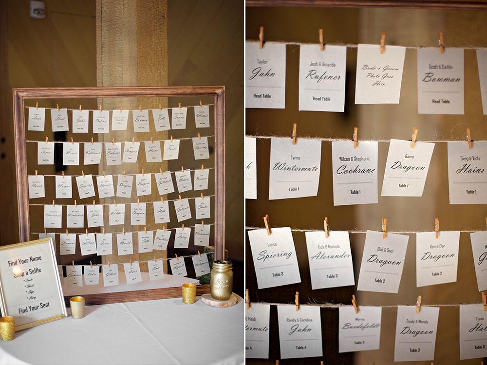 Greatest Wedding seating chart, hanging name tags, find name and replace  WI16