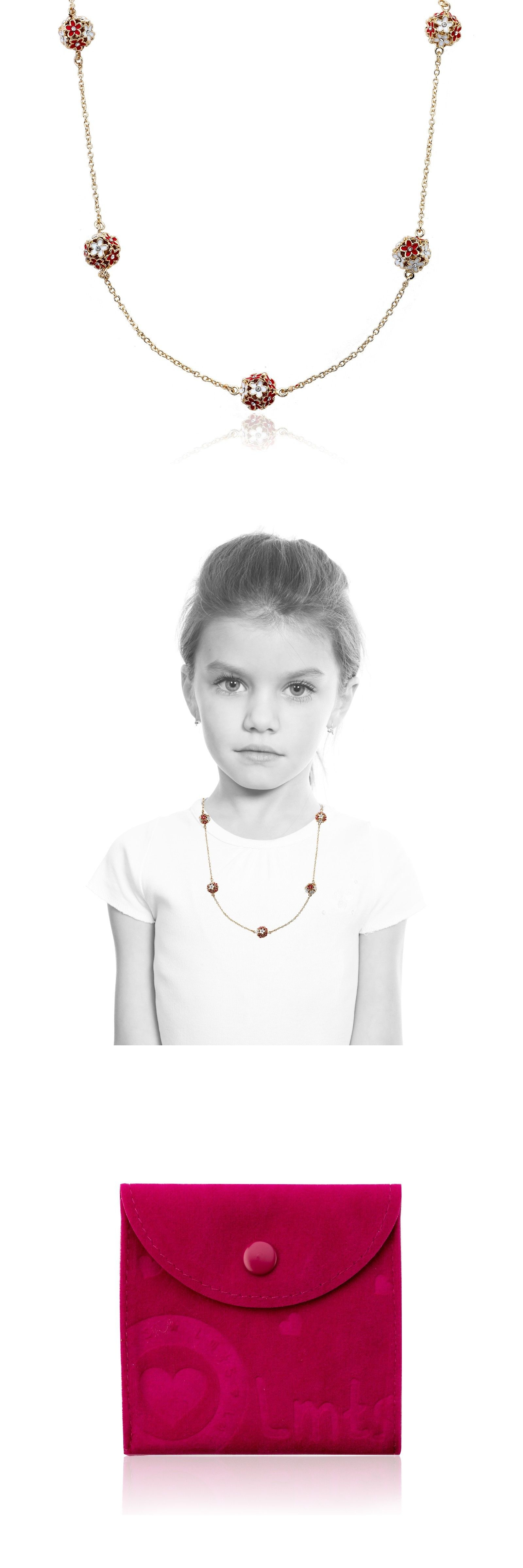 Mixed Lots 164208: Lmts Girls Cz And Red And White Color Enamel Balls On 14K Gold-Plate Chain Necklace -> BUY IT NOW ONLY: $44.5 on eBay!