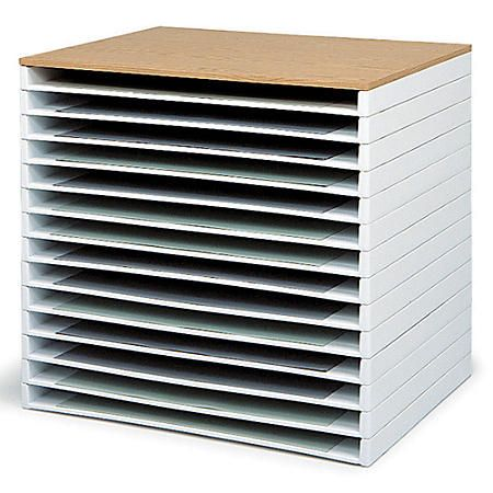 Safco Giant Stack Trays 3 H X 39 W X 26 D White Pack Of