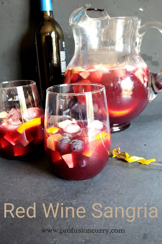 Red Wine Sangria Recipe In 2020 Red Sangria Recipes Red Wine Sangria Red Sangria