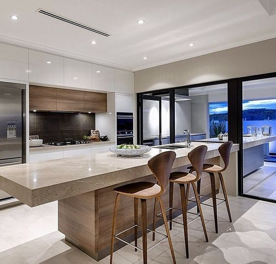 High Gloss Kitchen Island: Pin By REHAU Surface Solutions On High-Gloss Kitchen In