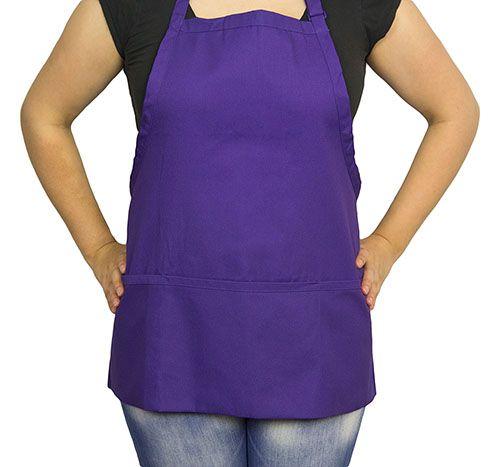 Short Purple 3 Pocket Apron