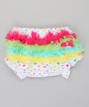 For bitty ones who already have a penchant for all things frilly, this ruffled diaper cover is the perfect finishing touch for any girly ensemble. Soft cotton with elastic at the waistband and legs make for a comfy fit, while the rows of ruffles add a playful pop.