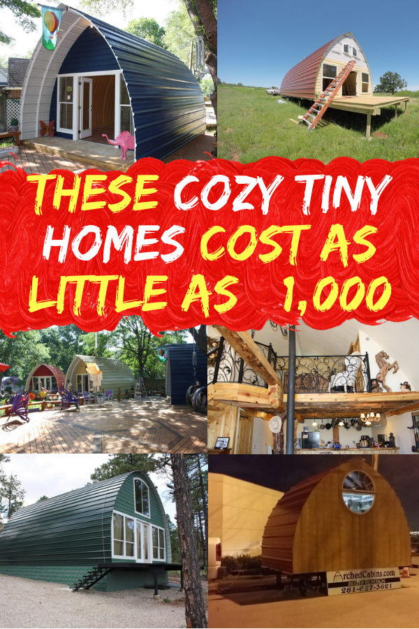 These Cozy Tiny Homes Cost As Little As $1,000 #tinyhomes