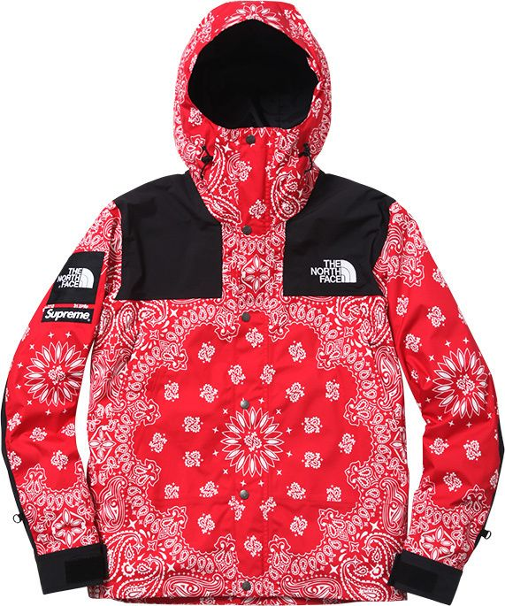 ... promo code for supreme x north face bandana jacket red only size large  left d9906 13920 7ea37fe70