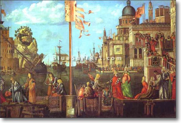 The Legend of St. Ursula: The Meeting of the Betrothed and the D - £124.99 : Canvas Art, Oil Painting Reproduction, Art Commission, Pop Art, Canvas Painting
